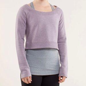 Lululemon Good Karma Cropped Pullover Lavender